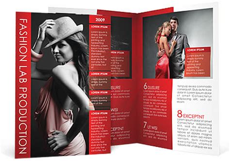 fashion brochure template design id 0000000908