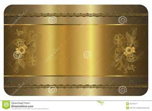 business card template gold card stock illustration