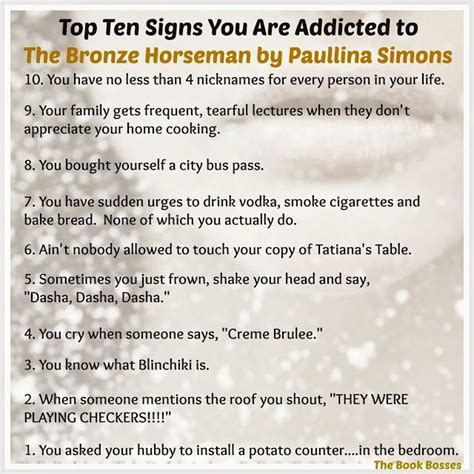 9 Signs That You Are Addicted To Exercise by Top Ten Signs You Are Addicted To The Bronze Horseman By