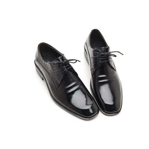 open oxford shoes s square toe wrinkle leather side punching open lacing