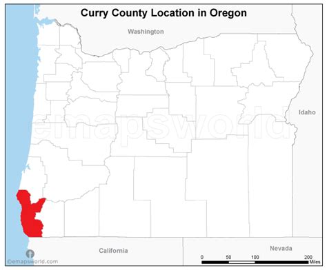 curry county oregon map curry county location map oregon emapsworld