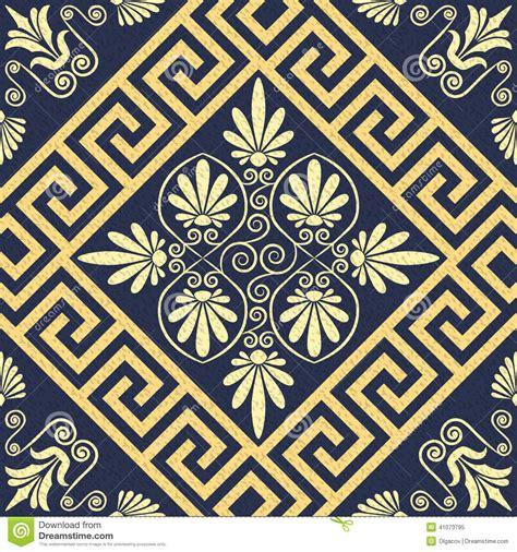 greek pattern texture vector seamless vintage gold greek ornament meander