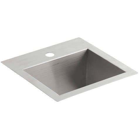 15 x 15 sink mustee 15 in x 15 in fiberglass self rimming bar sink in