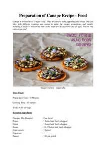 preparation of canape recipe