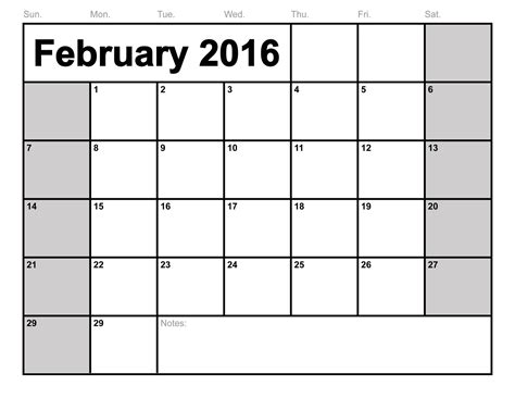 Blank Activity Calendar Template by 12 Month Calendars To Print 2016 Calendar Template 2016