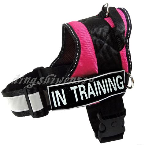 therapy in harness service vest reflective padded velcro patchs in therapy harness ebay