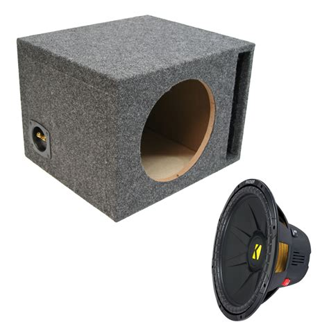 Speaker Subwoofer 15 Inch kicker cwd15 compd series 15 quot 2ohm dvc subwoofer w 15 inch vented sub enclosure ppackage 89