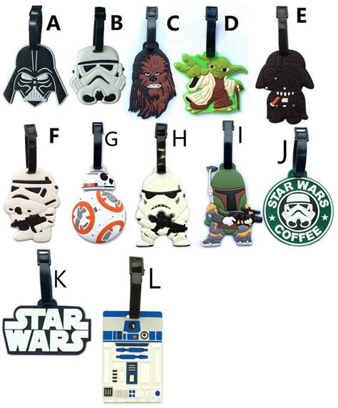 star wars printable luggage tags 2017 new travel accessories suitcase luggage tags star