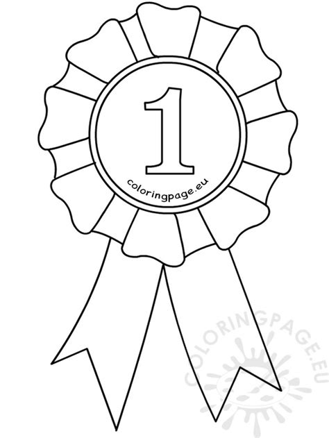 coloring page prize ribbon award ribbon template coloring page