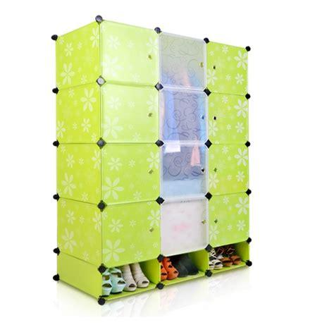 Lemari Pakaian Bayi Plastik diy kreatif magic perakitan modular sederhana lemari