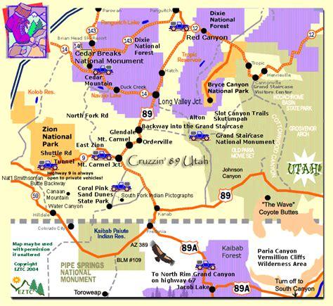 southern utah map map southern utah