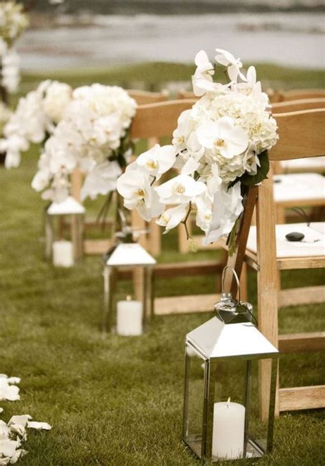 Wedding Aisle With Lanterns by Outdoor Wedding Aisle Decorations Lanterns With White