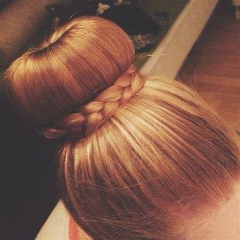 donut with a braid around it donut bun with a wrap around braid hairstyles pinterest