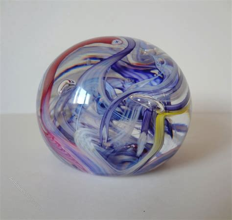 How To Make A Glass Paper Weight - antiques atlas whitefriars swirl paperweight