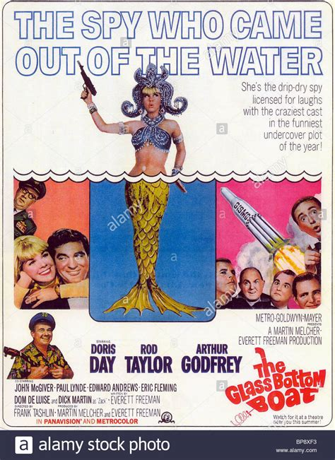 glass bottom boat film doris day film poster the glass bottom boat 1966 stock