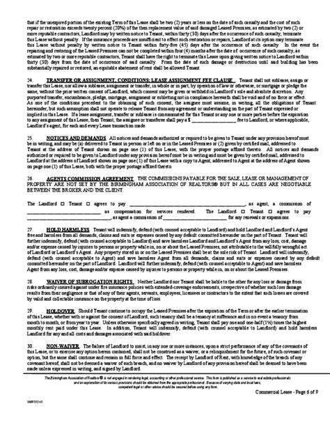 Alabama Commercial Lease Agreement Template Free Download Alabama Lease Agreement Template