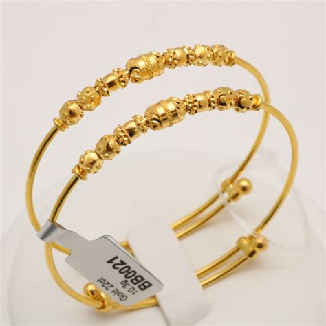 Gold Baby Gold 2 by 22 Carat Gold Pair Of Baby Bangles 10 3 Grams Gold Forever