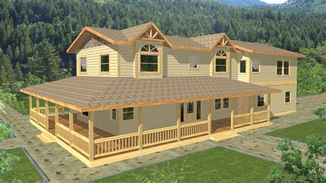 Ranch With Walkout Basement Floor Plans by House Plans With Wraparound Porch Builderhouseplans Com