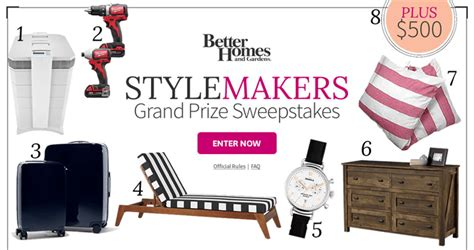 Bhg Sweepstakes Winners - bhg stylemakers sweepstakes bhg com stylemakerssweeps