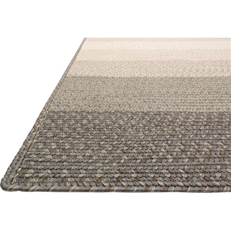 Outdoor Rug 5x7 Zadie Coastal Braided Grey Outdoor Rug 5x7 6 Kathy Kuo Home