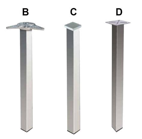 vendita gambe per tavoli gambe quadre in metallo per tavoli