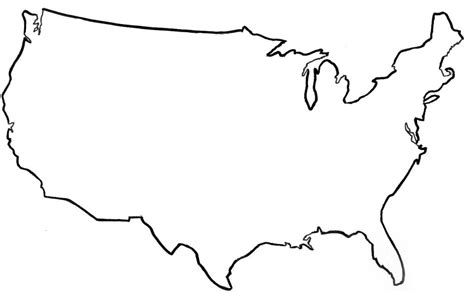 template of united states united states vector outline clipart best