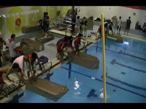 cardboard boat race ontario skills canada ontario cardboard boat race video youtube
