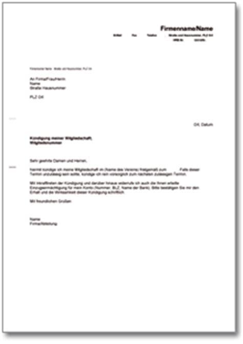 Antrag Mitgliedschaft Vorlage K 252 Ndigung Der Mitgliedschaft In Einem Verein De Musterbrief
