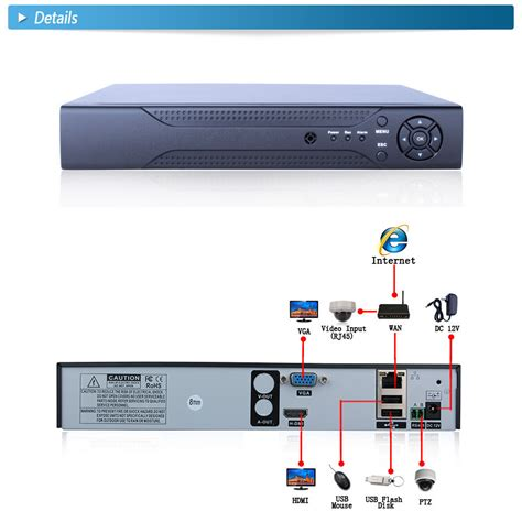 8ch nvr hdmi vga p2p cloud 1080p h 264 network