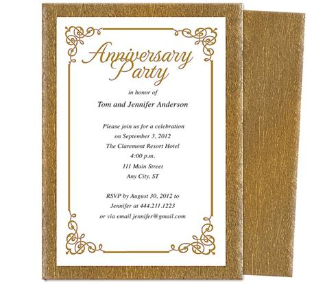 25th wedding anniversary invitations templates 9 best 25th 50th wedding anniversary invitations