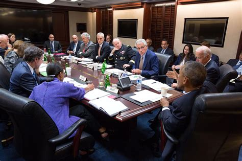 The Situation Room by Obama Meets In Situation Room Ahead Of National Address