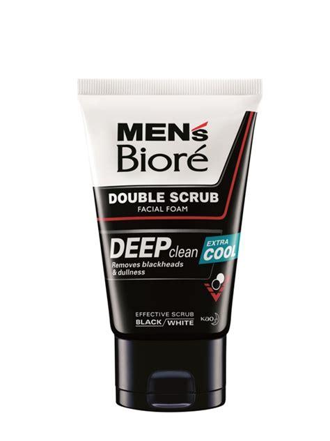 Biore Scrub Bright conquer dirt acne with the new men s biore scrub acne solution foam