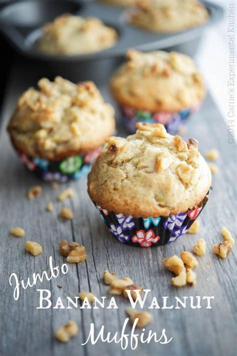 Jumbo Carie jumbo banana walnutut muffins