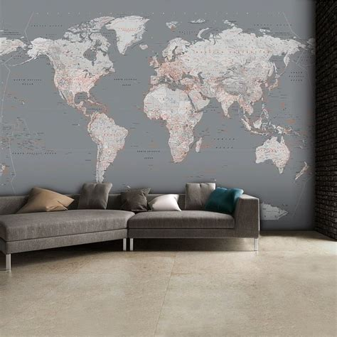 Classic World Map Wallpaper Wall - best 25 world map wallpaper ideas on world