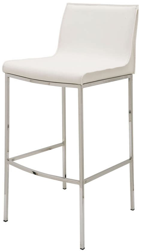 Nuevo Furniture Bar Stools by Colter White Leather Bar Stool From Nuevo Coleman Furniture