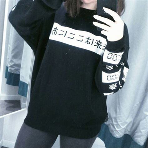 Japan Sweater sweater japanese black and white wheretoget