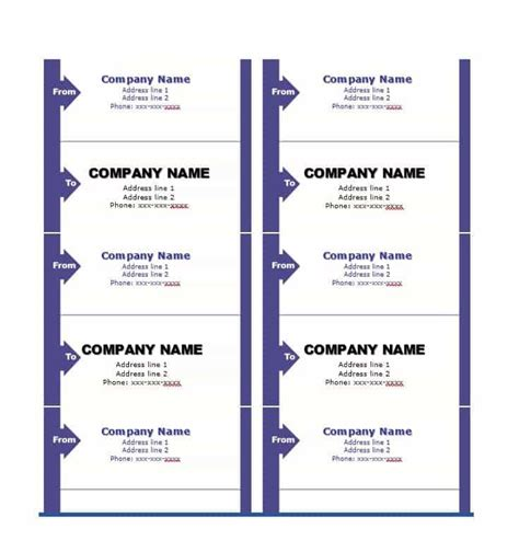 36 Fantastic Label Templates Address Shipping Mailing Shipping Address Label Template