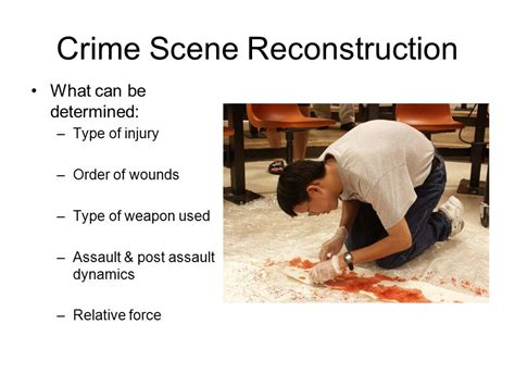 bloodstain pattern analysis reconstruction bloodstain pattern analysis ppt download