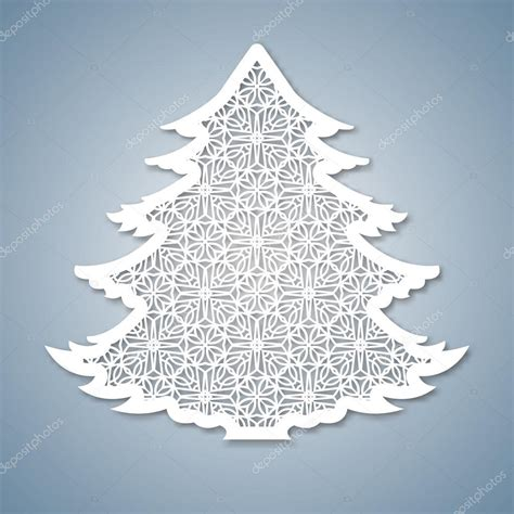 christmas tree with geometric pattern laser cutting