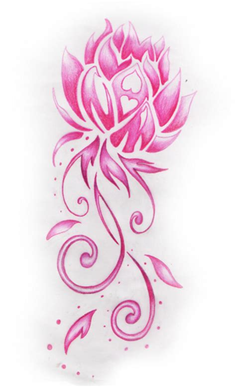 Lotus Flower Designs Free Pink Lotus Flower Design The Actual Flower Part Was