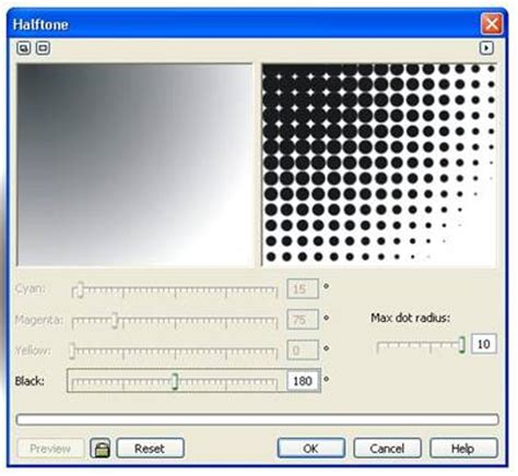 halftone pattern in corel tutorial coreldraw dasar belajar corel bagi pemula