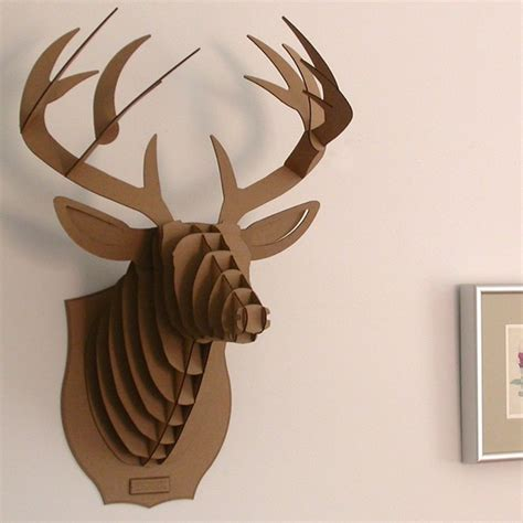 diy cardboard deer template deer wall mount diy model 3d puzzle cardboard animal