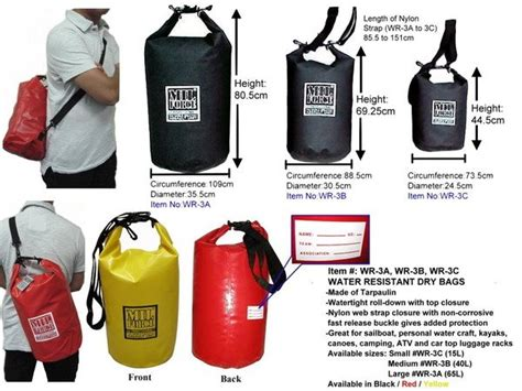 15l Drybag Square mil wr 3c water resistant bag 15l in other sports entertainment products from