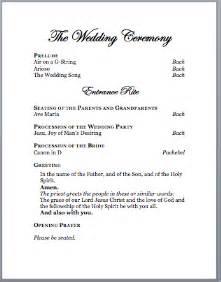 sle wedding programs outline spirals spatulas catholic wedding program