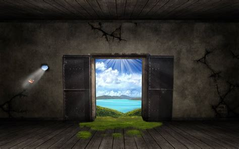 Buku Open Heaven porte fantastique photoshop tuto