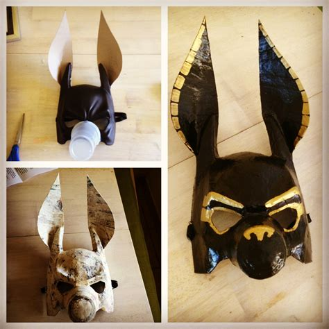 printable anubis mask diy anubis mask made from a plastic mask cardboard ears