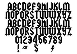 image gallery rock font