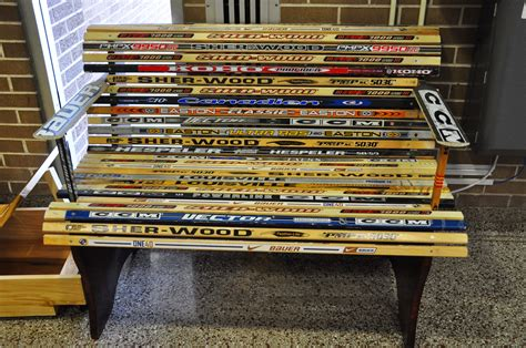 bench hockey woodworking students at montville township h s combine