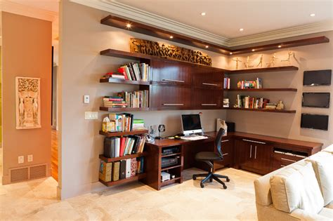 Custom Desk Ideas Custom Desk Contemporary Home Office Edmonton By Habitat Studio