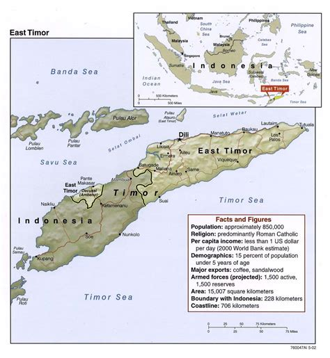 where is east timor on a map detailed political map of east timor east timor detailed